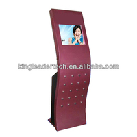 Touchscreen kiosk with brand SAW touchscreen and LCD