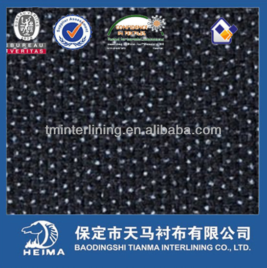 competitive price product 8276 twill woven fusible interlining
