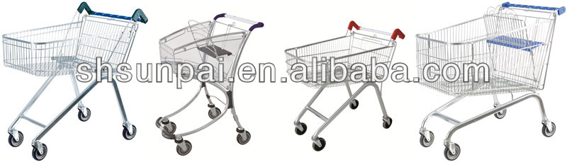 grocery safeway used shopping carts for sale 755*465*920MM with 80L