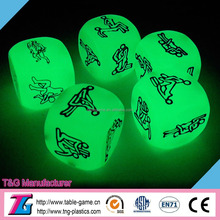 Adult glowing dice for sexy dice game