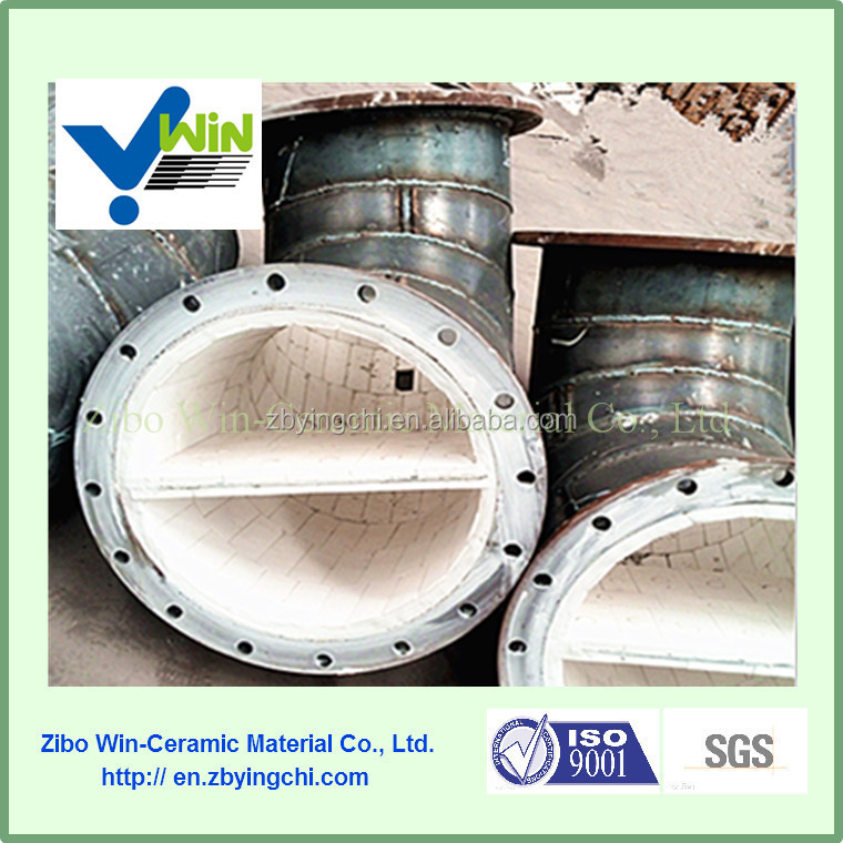 92% High ceramic lined wear resistant steel pipe, ceramic lined steel pipe