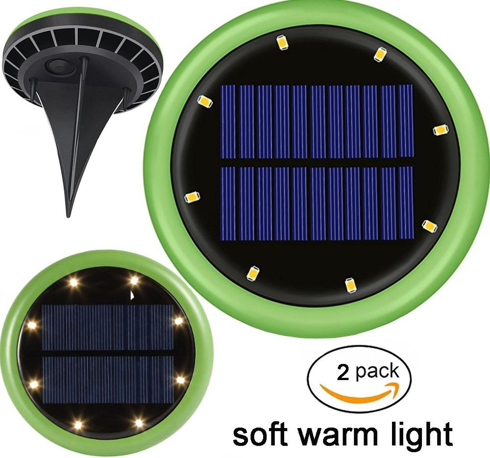 Top Quality Outdoor Light Solar Buried Ground Lawn Lamp 8 LED Waterproof Garden Decoration Solar Lawn Light