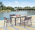Wood Plastic Composite Outdoor Furniture,Plastic Wood Table Set