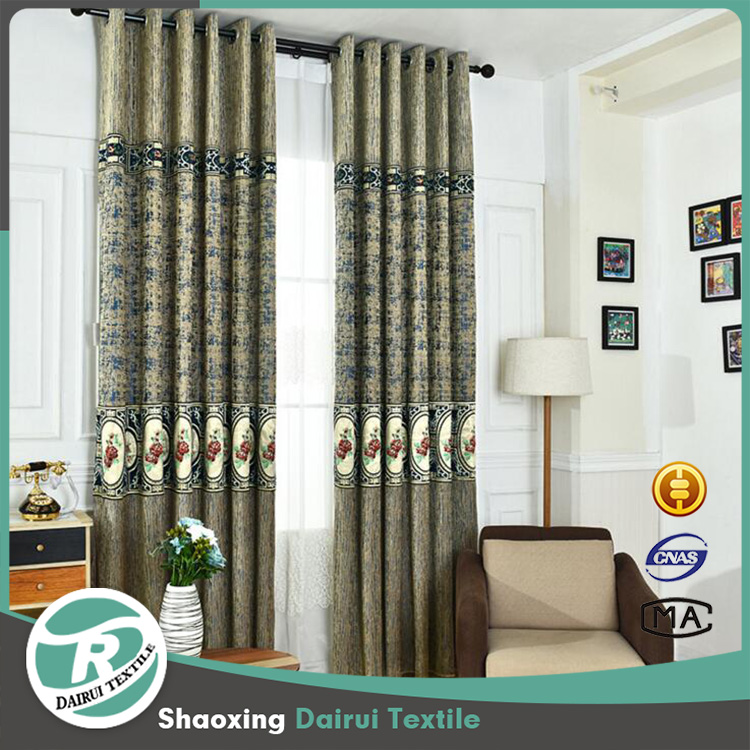 High quality European style chenille window curtains