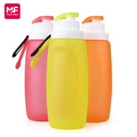 Wholesale collapsible liquid silicone 300ml plastic bottle