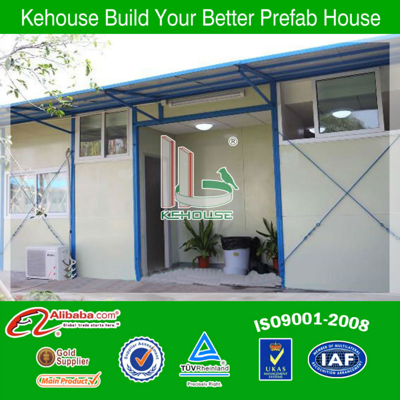 Low cost easy fast installation temporary portable timber frame house