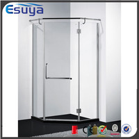 Moden design hinge open shower doors cabin, frameless shower screen