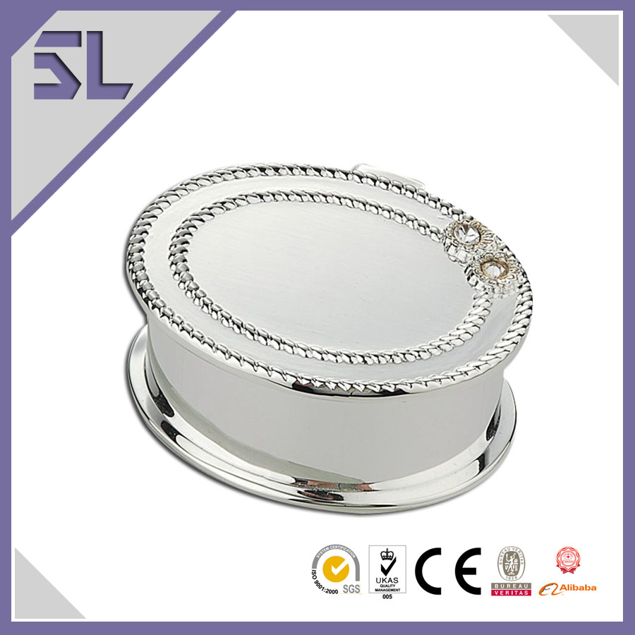 Lovely Flower Design Oval Shape Custom Jewelry Gift Boxes Made In China