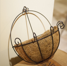 wholesaler handmade hanging coconut palm baskets