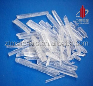 medicine and food and cosmetics additives menthol crystal