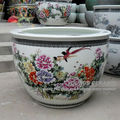 Wholesale large chinese famille rose ceramic plant pots for indoor and outdoor
