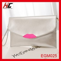 2015 summer new korean style fahion shoulder bag personality lips women clutch bag