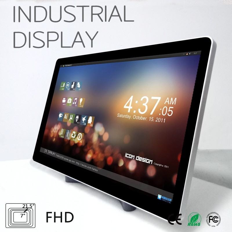 1920X1080 resolution flat screen touch industrial display