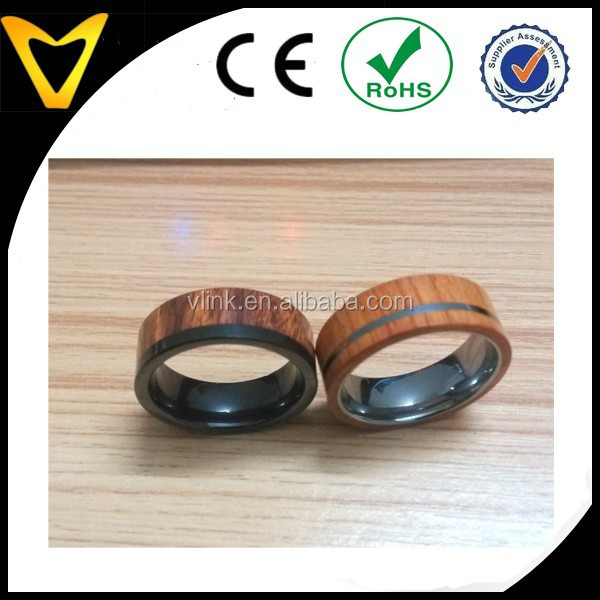 Custom design wooden ring,latest wood ring,tungsten wood ring natural wood ring jewelry