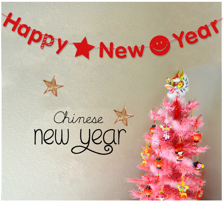 New year Hanging Decoration / HAPPY NEW YEAR hang string banners for festival