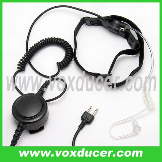 [E1977-S] For transceiver IC-H6 IC-F3S radio accessories clear tube throat mic