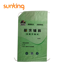 Green plastic packing woven bag for building material