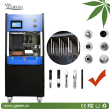 Ygreen automatic capping THC/CBD oil filling machine for all kinds of cbd oil cartridge