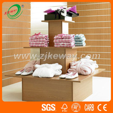 3 tier round clothes retail display tables