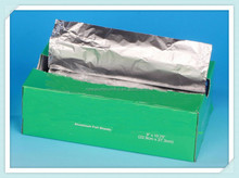 embossed thin aluminum foil sheet pop up foil for wrap sandwiches for lunch