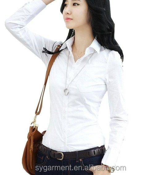 hot sale elegant style tops Women Custom Fit blouse Polo Formal office lady Blouse