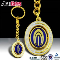 Classic style metal gold high quality game keychain