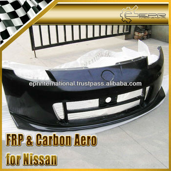 For Nissan 350Z NISM STYLE Version 2 Carbon Fiber Front Bumper Lip