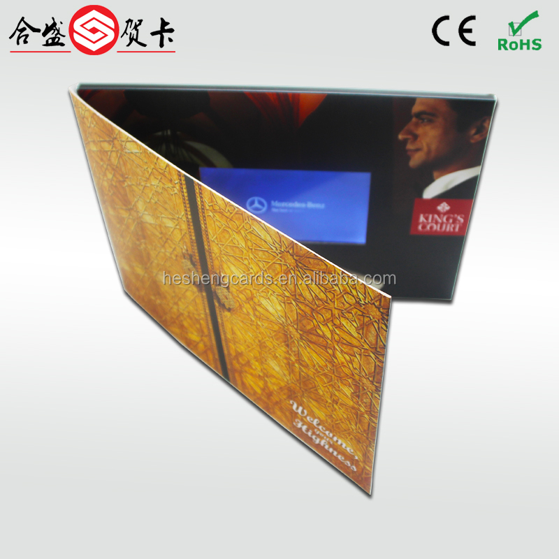 "hot sale 7"" tft screen video greeting card,video message card ,paper thin lcd"