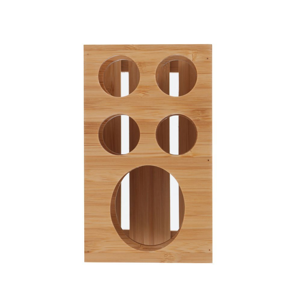 Toothbrush and Toothpaste Holder Stand for Bathroom Vanity Storage, Bamboo, 5 slots.jpg