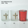 China Wholesale luxury EMPTY candle jar / glass jar holder for candle making votive cup holder with red color