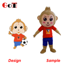 New Arrival Animal Costume Mascot For Adults Plush Animal Costume Monkey