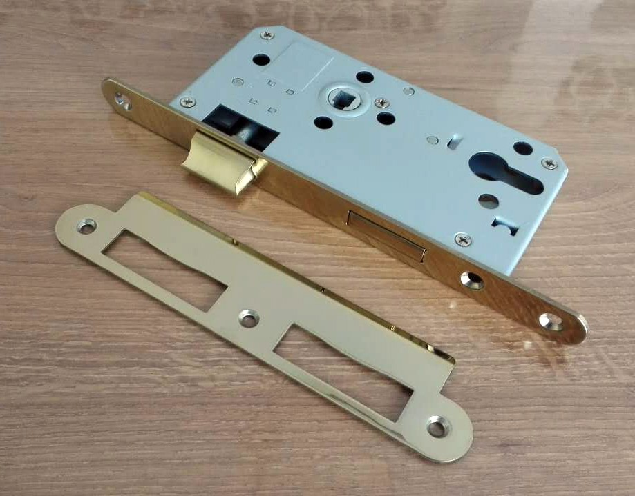 DIN18250 EURO door lock with CE PVD