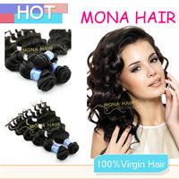 Excellent quality AAAAA tangle free cheap brazilian loose wave hair