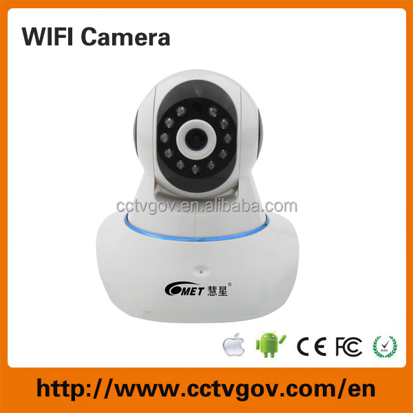 720p hd wireless cctv camera with memory card and sound