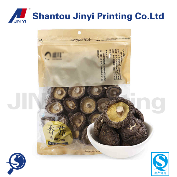 ziplock import plastic bags with clear window for packaging mushroom