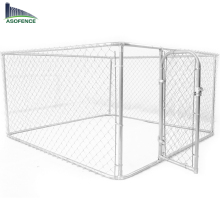 2.3 x 2.3 x 1.2m Large Pet Dog Enclosure Run Kennel Chain Link Fence Rust Proof