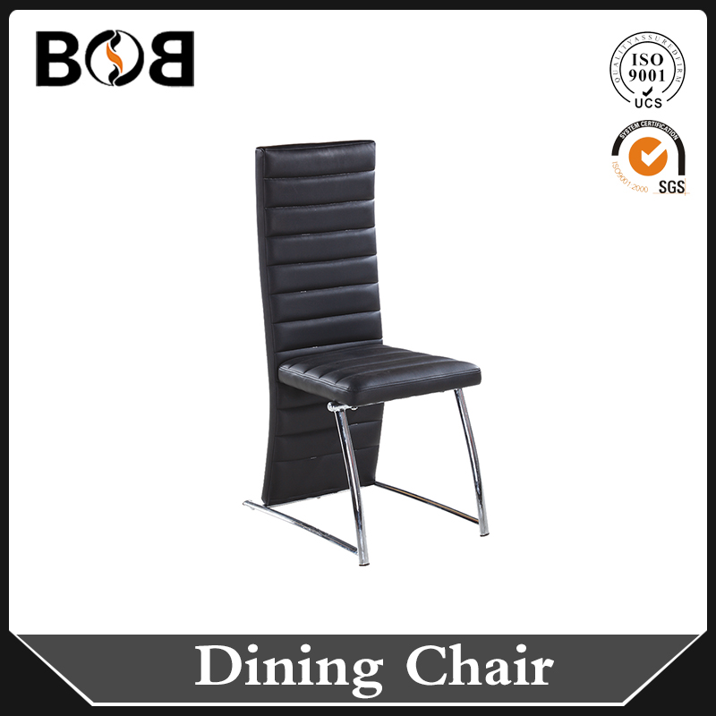 2016 good quality cheap price latest Black Square Cube Shape PU leather standard furniture dining room chair
