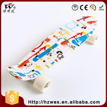 Popular New Designed 70kgs Top ABS Deck Material PU Wheels OEM Fish Shape Skateboard for Kids