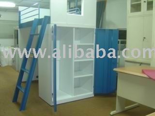 Bed with Table & Cupboard