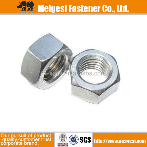 China Manufacture Supply high quality good price s/s zinc plated galvanized hexagonal side nut tie rod nut DIN934