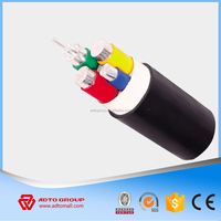 Aluminum/Copper Low voltage 4x50mm PVC XLPE insulated Power cable