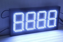 "led digital price number board led display 10 inch gas station led sign 6"" 8'' 12'' 18''led gas price display"
