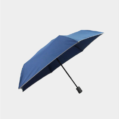 [Umbrella] Weather Me: Automatic light-weighted folding umbrella with UV protection - blue / black / gray