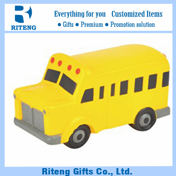 Anti Stress Toy PU School Car For Promotion