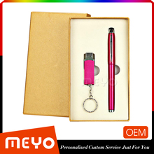 Personalize Design Gifts Factory Price Ballpoint Pen And 32 GB USB