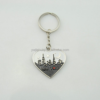 Chinese wholesale custom enamel metal keychain bulk products from china