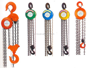Hand Wrenching Chain Tackle Block , Chain Pulley Block 3 Ton Hoist Crane