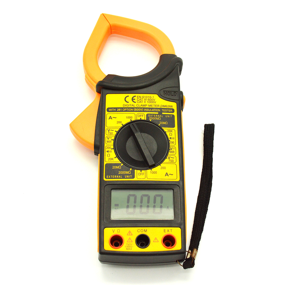 Low Power Indication Current Test Digital Clamp Meter AC DC