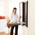 GZ-2 wall mounted folding ironing board with mirror