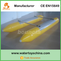 Two Tubes Inflatable Boat / Inflatable Tube Boat For Water Sports